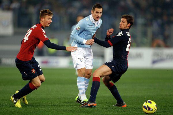 Игровой момент матча Лацио - Кальяри