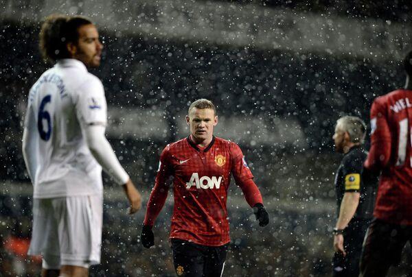 Игровой момент матча Тоттенхэм-Манчестер Юнайтед
