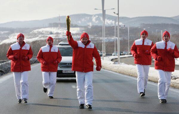 Старт эстафеты Огня XXVII Всемирной летней Универсиады в России