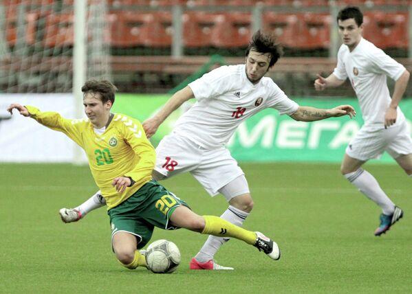 Игровой момент матча Белоруссия – Литва