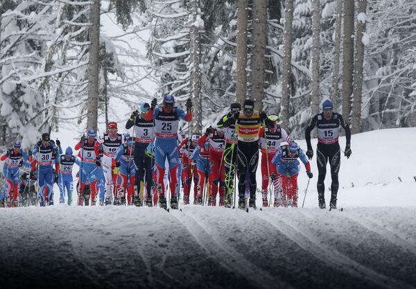 Лыжные гонки. VIII этап Кубка мира. Скиатлон. Мужчины