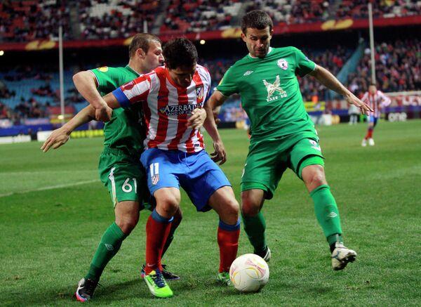 Игровой момент матча Атлетико - Рубин