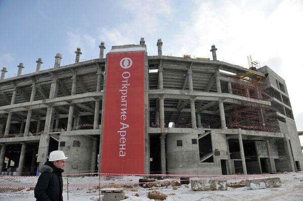 Строительство нового стадиона футбольного клуба Спартак