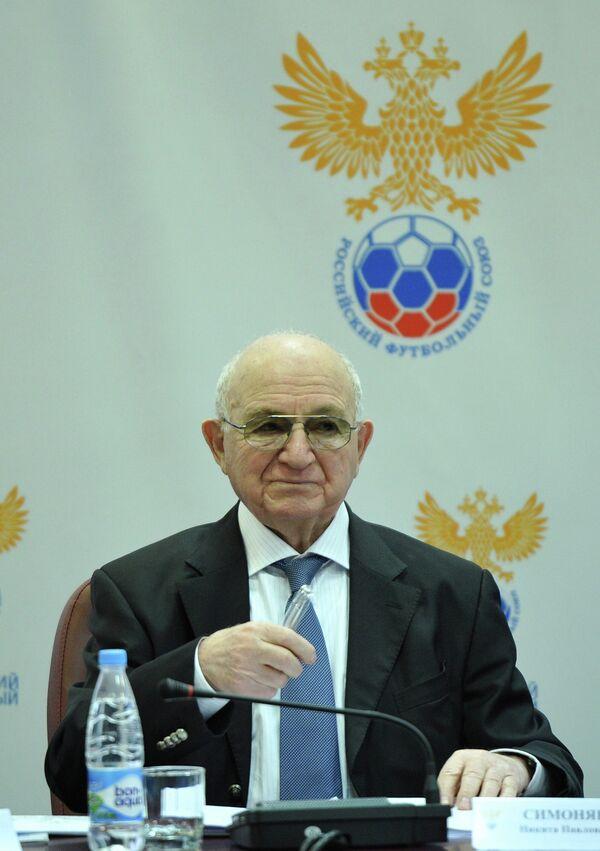 Заседание исполкома Российского Футбольного Союза. Никита Симонян