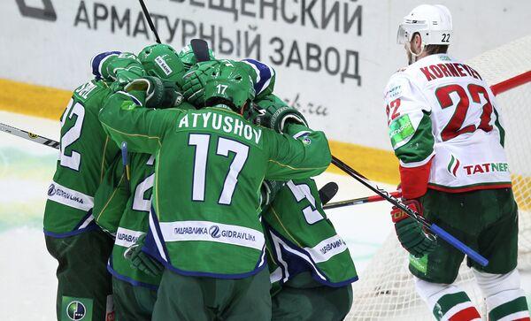 Радость игроков Салавата Юлаева
