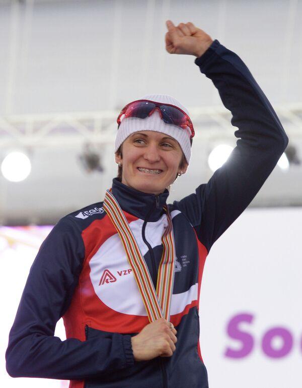 Чешка Мартина Сабликова, завоевавшая золотую медаль в женском забеге на 5000 м