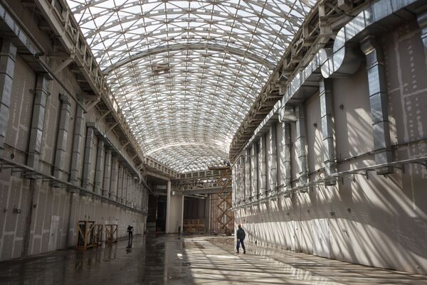 Строительство Главного Медиа Центра в Олимпийском парке в Сочи