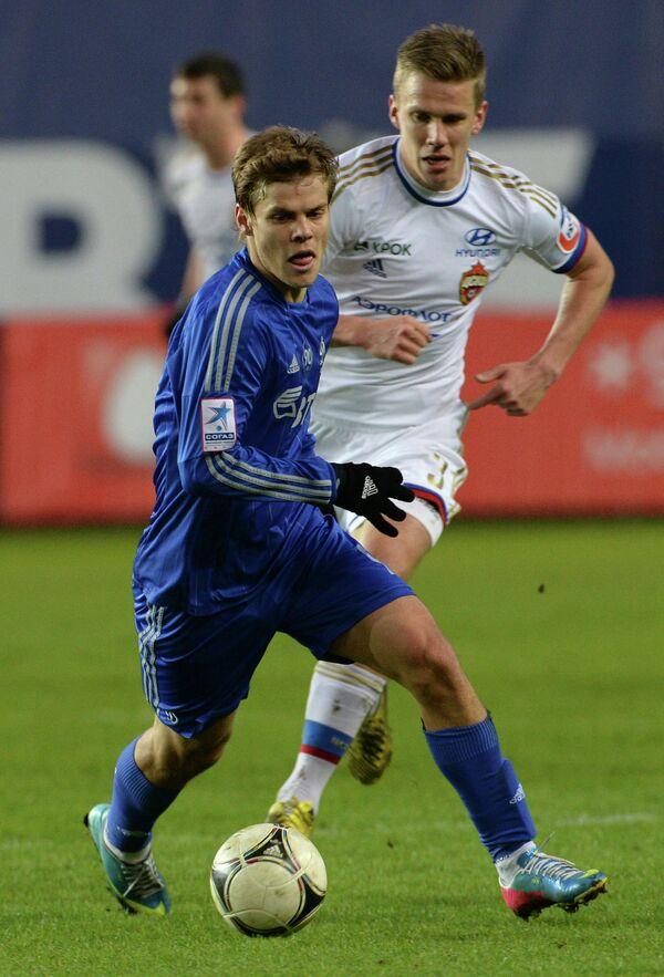 Александр Кокорин (слева) и игрок ЦСКА Понтус Вернблум