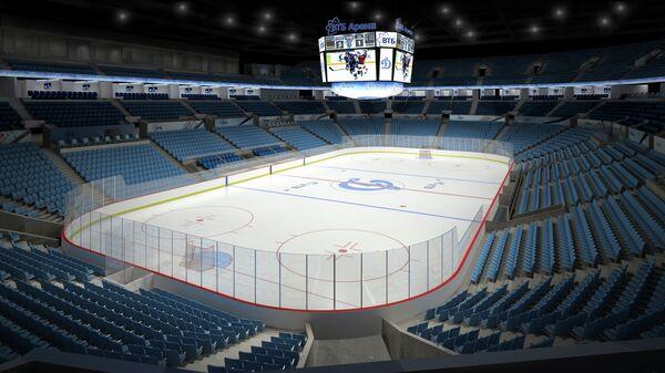 Малая арена стадиона Динамо после реконструкции. Хоккейный вариант.