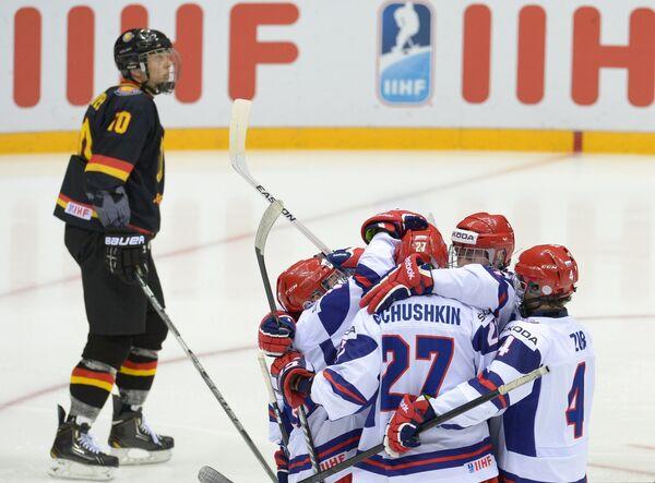 Игроки юниорской сборной России по хоккею