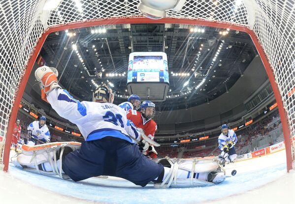 Хоккей. Юниорский ЧМ. Матч Финляндия - Чехия