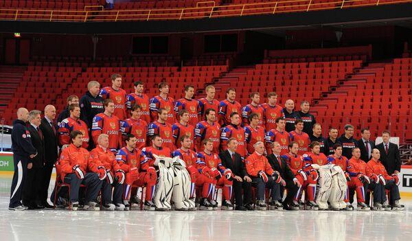 Официальное фотографирование сборной России по хоккею