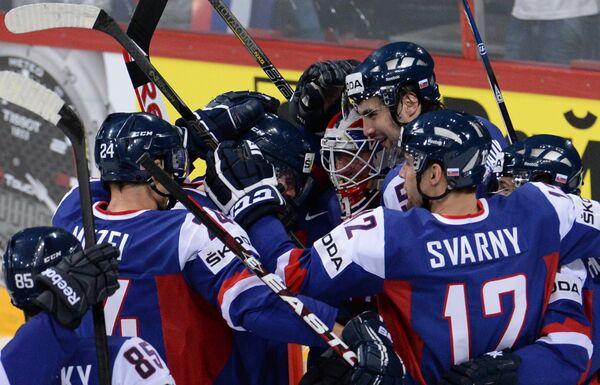 Хоккеисты сборной Словакии