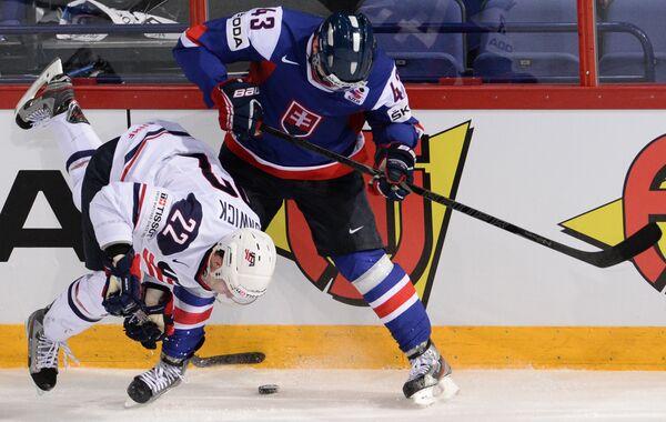 Игровой момент матча Словакия - США