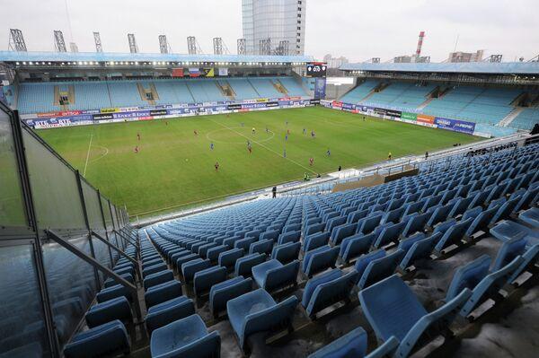 Пустые трибуны стадиона Арена -Химки