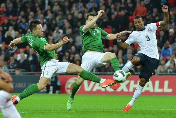 Игровой момент матча Ирландия - Англия