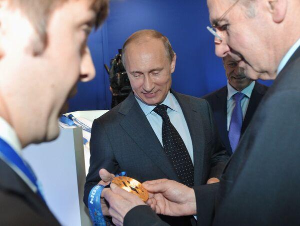 Рабочая поездка президента РФ В.Путина в Санкт-Петербург
