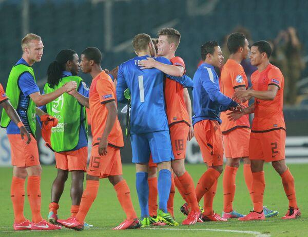 Футбол. Чемпионат Европы среди молодежных команд. Матч Нидерланды - Россия