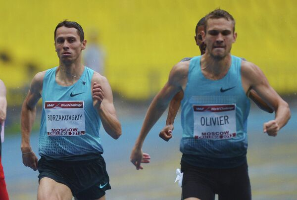 Россиянин Юрий Борзаковский (2 место) и Андре Оливер из ЮАР