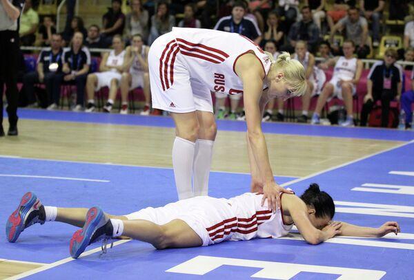 Баскетбол. Чемпионат Европы. Женщины. Матч Россия - Швеция