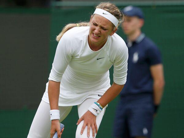 Белорусская теннисистка Виктория Азаренко в первом круге Уимблдона