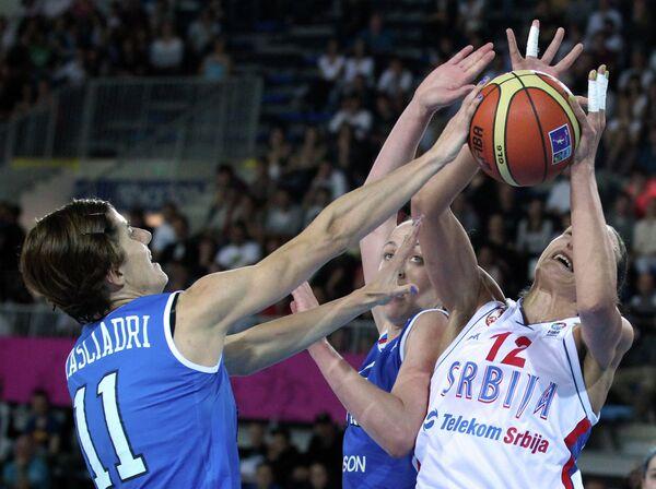 Баскетбол. Чемпионат Европы. Женщины. Матч Сербия - Италия