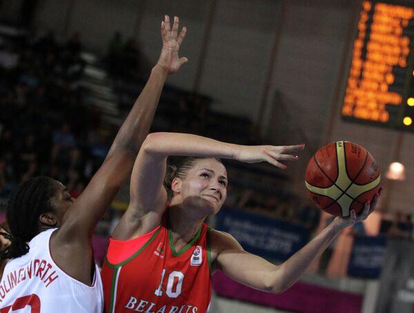 Игровой момент матча Турция - Белоруссия