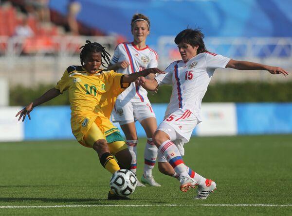 Игровой момент матча Россия (жен) - ЮАР (жен)