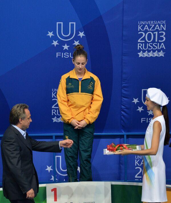 Первая победительница Универсиады в Казани Саманта Миллз (Австралия)