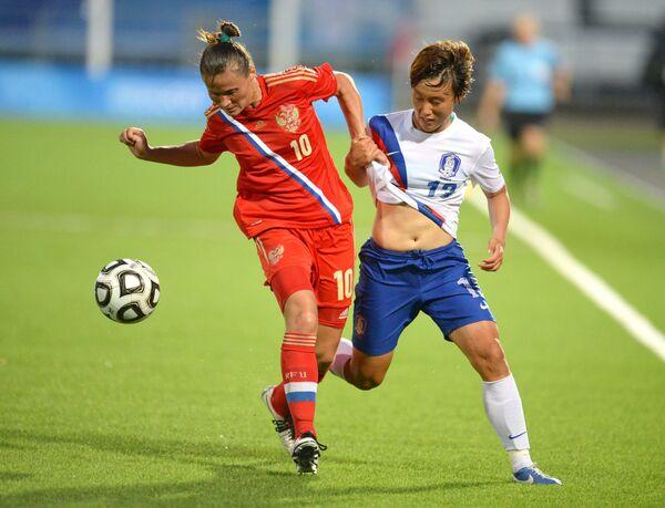 Игровой момент матча Россия - Южная Корея