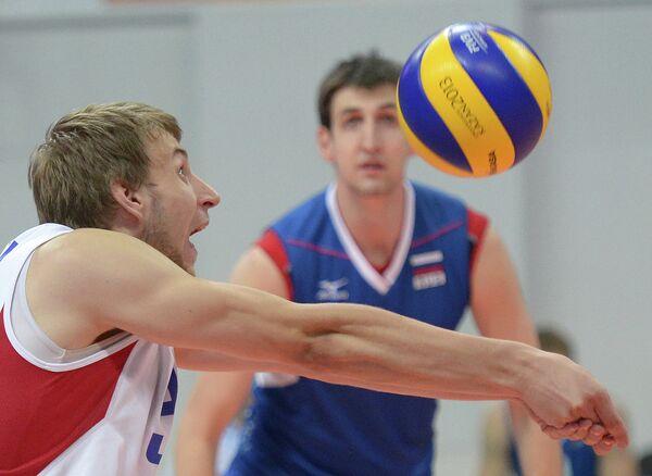 Игрок сборной России Валентин Голубев