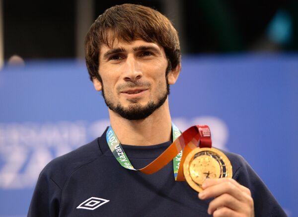 Бекхан Гойгереев (Россия), завоевавший золотую медаль мужского турнира по вольной борьбе