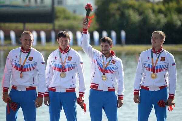 Кирилл Ляпунов, Александр Сергеев, Виктор Андрюшкин, Олег Жестков (слева направо)