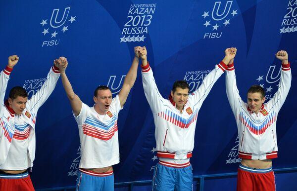Команда России в составе Данилы Изотова, Никиты Лобинцева, Артема Лобузова и Александра Сухорукова
