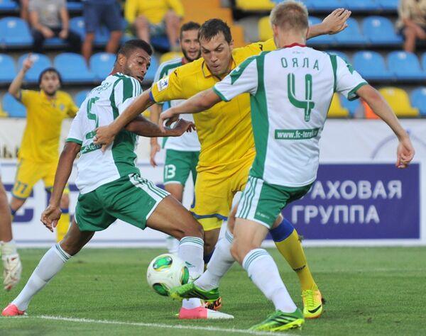 Игровой момент матча Ростов - Терек