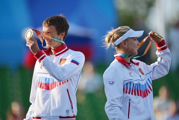 Андрей Кузнецов и Елена Веснина
