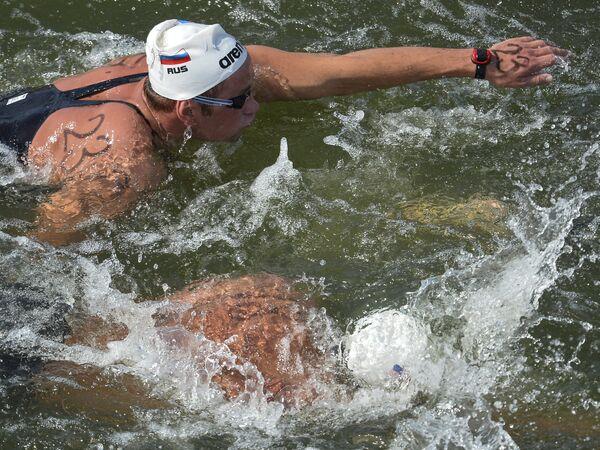 Даниил Серебренников (Россия) на дистанции 10 км