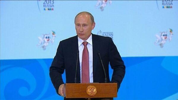 Путин посоветовал критикам Универсиады занятия спортом и Виагру