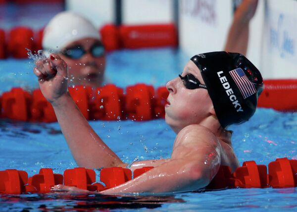 Кэти Ледеки на дистанции 1500м вольным стилем