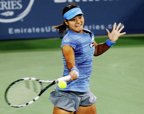 Китаянка Ли На на теннисном турнире в Цинциннати