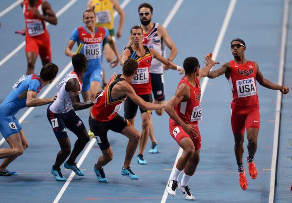 Финальный забег эстафеты 4х400 м