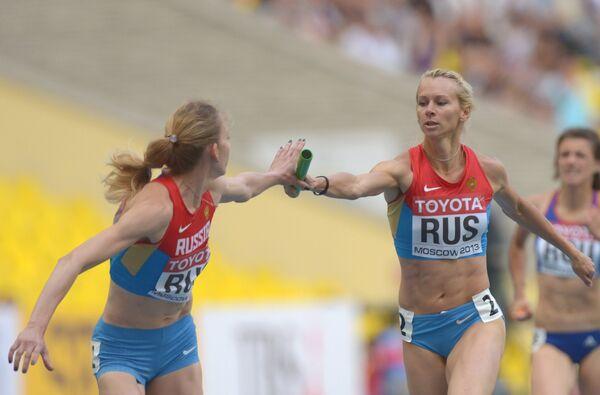 Российские спортсменки Татьяна Фирова и Юлия Гущина