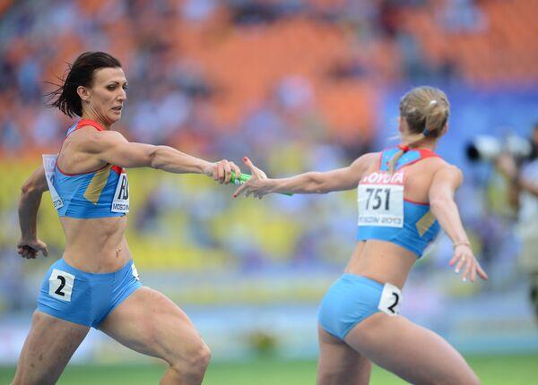 Российские спортсменки Наталья Антюх и Юлия Гущина