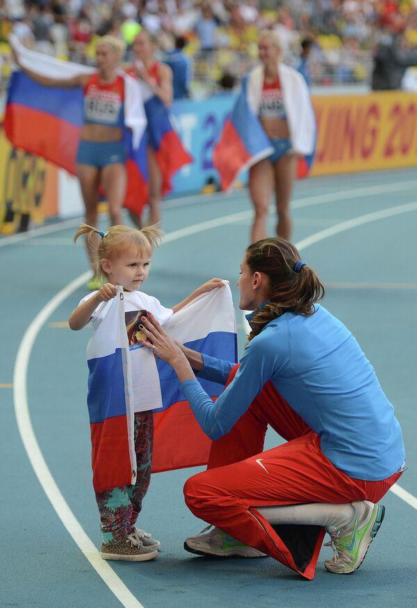 Анна Чичерова с дочерью