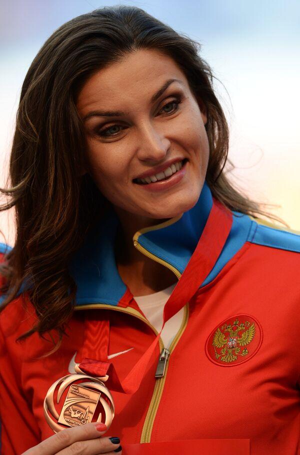 Анна Чичерова (Россия), завоевавшая бронзовую медаль