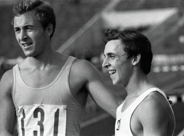 Валерий Борзов (слева)