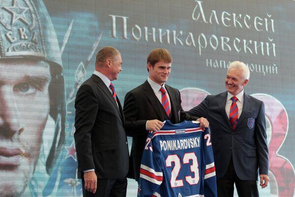 Александр Медведев, Алексей Поникаровский и Генадий Тимченко (слева направо)