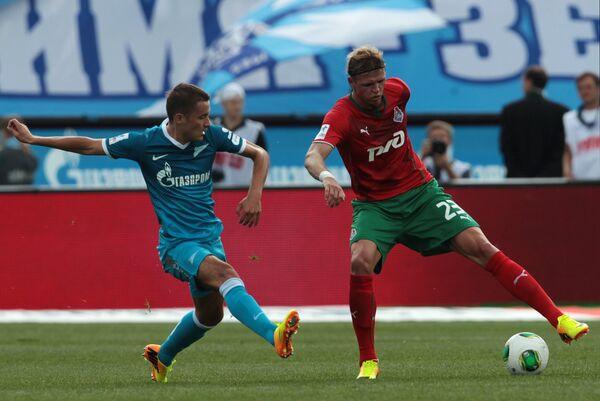 Игровой момент матча Зенит - Локомотив