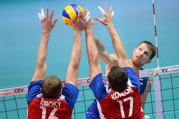 Волейбол. Чемпионат Европы. Мужчины. Матч Россия - Чехия