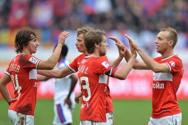 Павел Яковлев, Евгений Макеев, Дмитрий Комбаров и Денис Глушаков (слева направо)